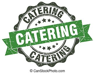 Vector Clip Art of Catering label or sign on white background ...