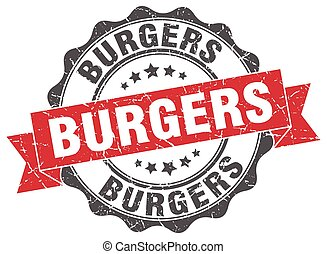 burgers stamp. sign. seal
