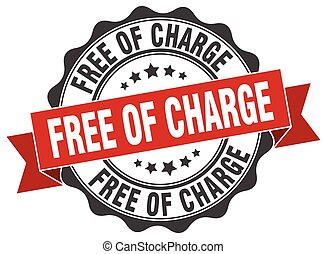 free of charge stamp. sign. seal