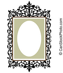 Ornate frame - Illustration of an ornate and decorative...