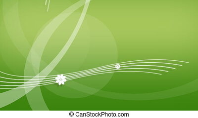WHITE FLOWES AND GREEN BACKGROUND - Computer-rendered...