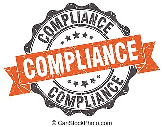 compliance stamp. sign. seal