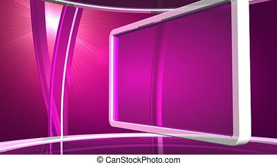 VIOLET SCREEN - Computer-rendered animation for TV drama...