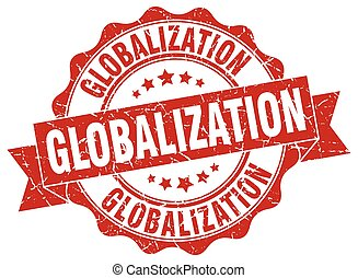 globalization stamp. sign. seal