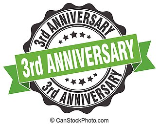 3rd anniversary stamp. sign. seal