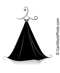 Black Dress - Black and White Series: Black Dress with...