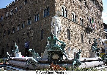 Statue of Neptune - Source Mannerist Neptune in Piazza della...