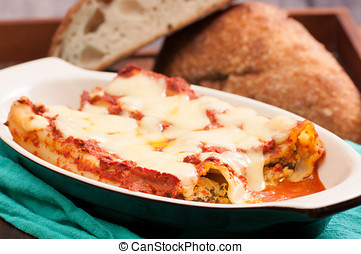 homemade stuffed cannelloni - cannelloni stuffed with goat...