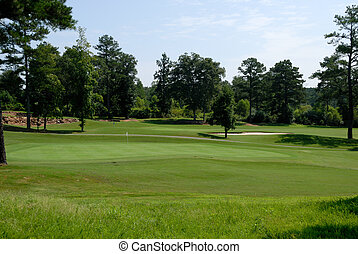 Golf course green - golf course green at local course Winder...