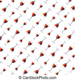 Wall-paper from wine glasses on a white background Vector