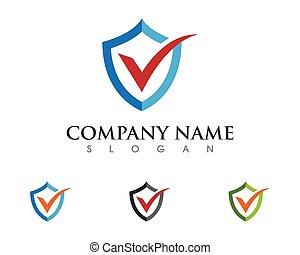 Shield logo template icon