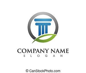 pillar logo template icon