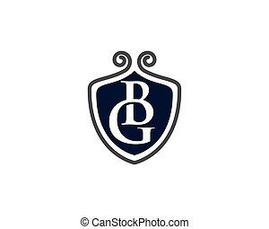 G Letter with Logo - Shield logo template icon