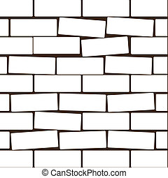 White brick. Vector illustration
