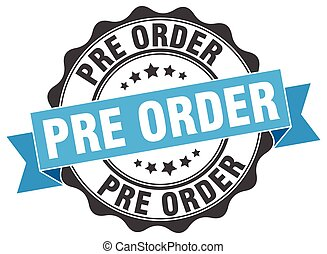pre order stamp. sign. seal