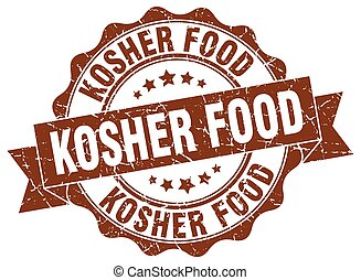kosher food stamp. sign. seal
