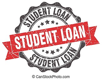 student loan stamp. sign. seal