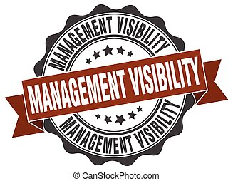management visibility stamp. sign. seal