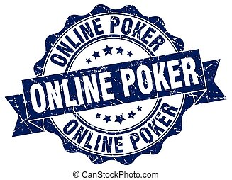 online poker stamp. sign. seal