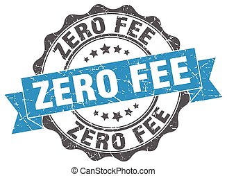 zero fee stamp. sign. seal