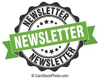 newsletter stamp. sign. seal