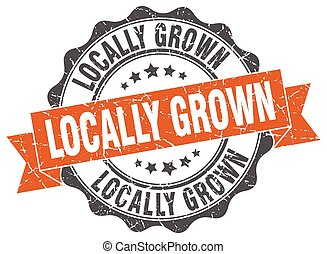 locally grown stamp. sign. seal