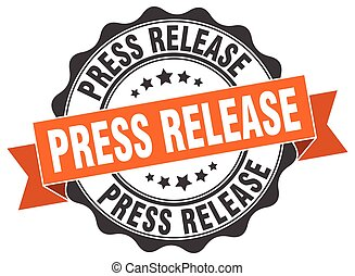 press release stamp. sign. seal