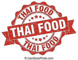 thai food stamp. sign. seal