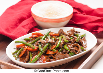 Thai beef and green beans - home made beef and green bean...