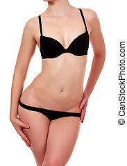 Beautiful female body in underwear