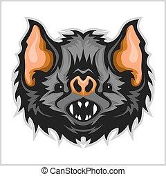 Head vampire bat.