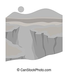 Grand Canyon icon in monochrome style isolated on white...