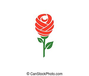 Rose flower Logo Template