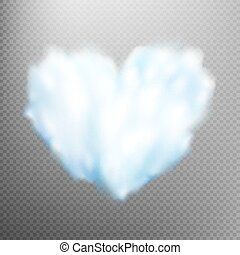 Realistic cloud heart. EPS 10 - Realistic cloud heart on...