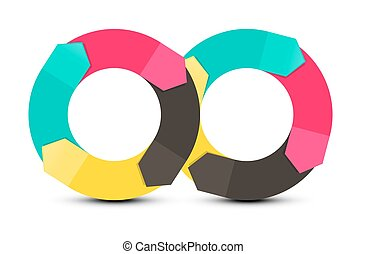 Infinity Symbol. Paper Arrows. Vector Objects Isolated on...