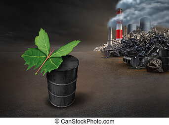 Pollution Conservation Hope Concept