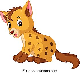 Cartoon funny hyena - illustration of Cartoon funny hyena