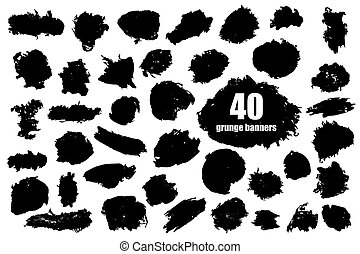 Vector set of grunge banners template backgrounds for...