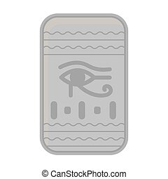 Eye of Horus icon in monochrome style isolated on white background. Ancient Egypt symbol stock vector illustration.