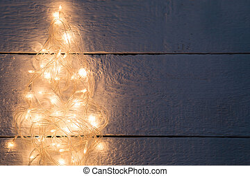 Festoon in form of pine - Festoon in form of Christmas pine...