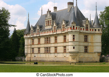 Beautiful castle Azay-le-Rideau, France