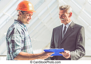 Construction Industry workers - Handsome construction worker...