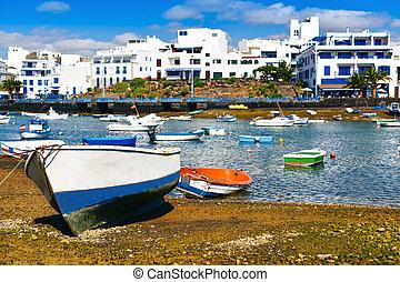 Charco de San Gines, Arrecife, Lanzarote, Canary Islands,...