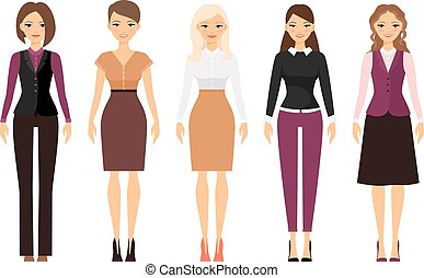 Women in office dress code clothes - Women in office dress...