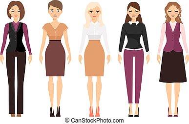 Women in office dress code clothes - Women in office dress...