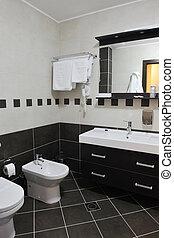 modernos, hotel, banheiro