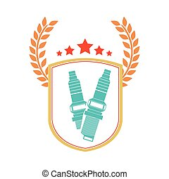 Isolated seat belt design - Seat belt icon. Car automobile...
