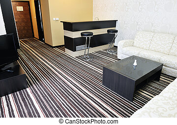 hotel room - bright and clean hotel room interior with...
