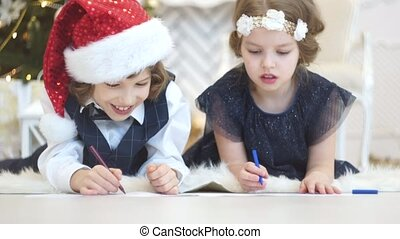 Children write letters to Santa Claus. To children it is...
