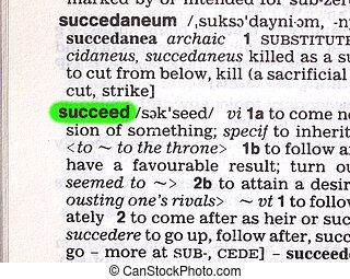 Succeed - The word succeed on a dictionary page